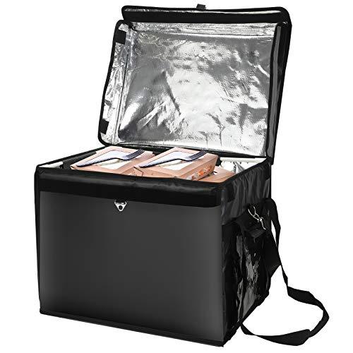 Kacsoo Mochila para entrega de pizza, bolsa para entrega de alimentos con aislamiento, mochila grande para entrega de alimentos de 44 l, mochila térmica, mochila con aislamiento térmico