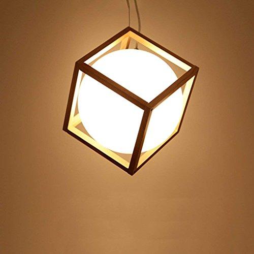 DSJ kroonluchter creatieve restaurant kroonluchter eenvoudig design bar café log lamp woonkamer restaurant massief houten lamp, groot
