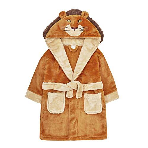 Minikidz by The Pyjama Party-Bademantel, für Jungen im Alter von 2–6 Jahren Gr. 4-5 Jahre, löwe