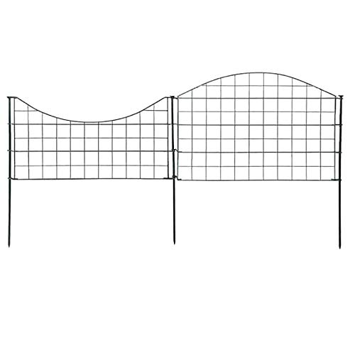 Steckzaun Teichzaun Komplettset 7,5m lang geschwungen - Zubehör enthalten - Maschenweite 65mm - Grün - Zaun Gartenzaun Komplett Set Drahtzaun Metall Draht Zaunset Vorgarten Gartenzaun Beeteinfassung