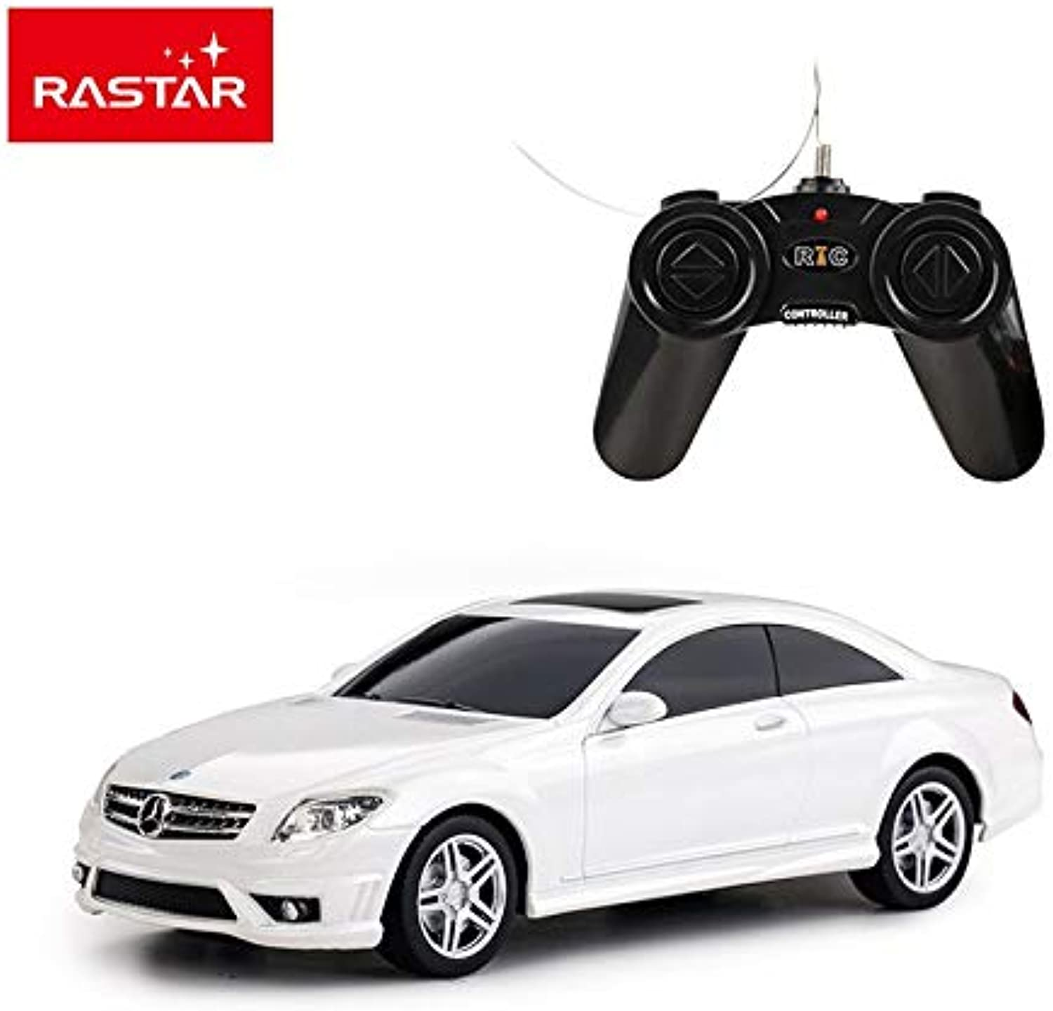 Generic Rastar Licensed rc car Mercedes CL63 AMG 1 24 Radio Control Hobby Sports car 34200 White