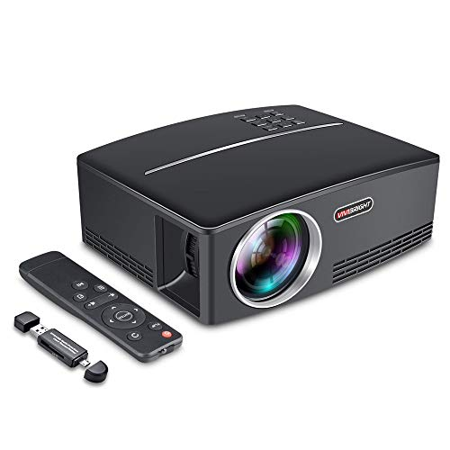 YzDnF Outdoor Movie Projector Portable Mini Home Office LED Projector 800x480 Pixels 60W Power 120HZ (Color : Black, Size : 30x20x12cm)