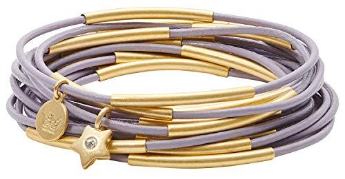 SENCE Copenhagen Damen Armband Gold - Secret Garden 2019 Serie Urban Gipsy Bracelet Light Purple Matt Gold Vergoldet - BK887
