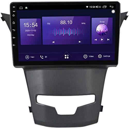 Miwaimao Estéreo De Navegación para Automóvil Android 10.0 con Pantalla Táctil De 9 Pulgadas para SsangYong Actyon Car Entertainment Radio Multimedia, WiFi / 4G, Soporte RDS DSP FM BT