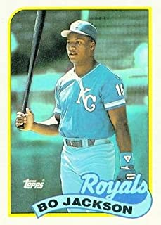 1989 Topps #540 Bo Jackson - Kansas City Royals (Baseball Cards)