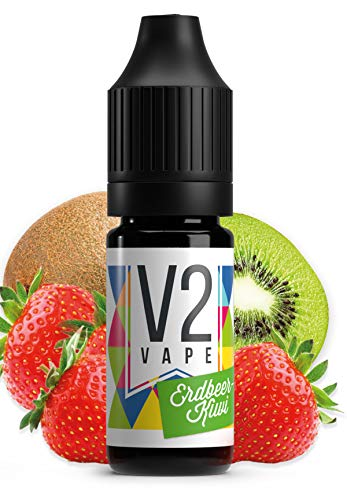 V2 Vape Erdbeer-Kiwi AROMA / KONZENTRAT hochdosiertes Premium Lebensmittel-Aroma zum selber mischen von E-Liquid / Liquid-Base für E-Zigarette und E-Shisha 30ml 0mg nikotinfrei