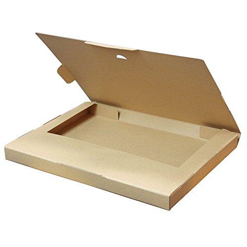 ボックスバンク クリックポスト用ダンボール箱(最大 60サイズ)25枚セット(外寸)335×245×28mm FY07-0025