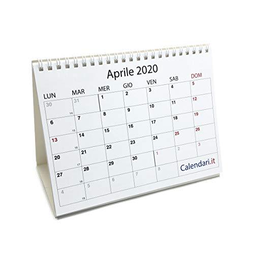 Calendario 2020 a caselle - 14 FOGLI UNO PER OGNI MESE - cm 20x15 da tavolo per ufficio casa e lavoro
