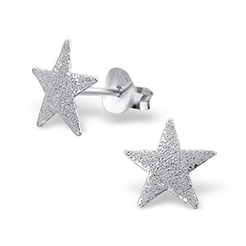 Sterling Silver Star Earrings Gift