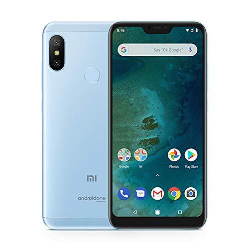 "Xiaomi Mi A2 Lite Smartphone Schermo Full HD da 5,8"" Screen, 4 GB di RAM + 64 GB di memoria ROM Snapdragon 625 Octa Core, doppia scheda SIM + scheda MicroSD, Dual Rear Telecamere Cellulari (Blu)"