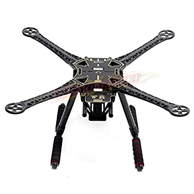 Rcmodelpart S500 Quadcopter Fuselage Frame Kit PCB Version w/ Carbon Fiber Landing Gear Skid