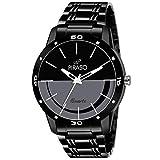 Piraso Analogue Black Dial Men's Watch (54-BK-CK)