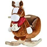 Qaba Kids Ride-On Rocking Horse Toy Rocker with...