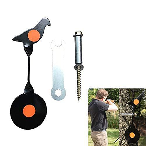 Redsa Spinning Air Gun Target Hunting Stainless Steel Target Bullseye Shooting Target for Slingshot Tree Mounted ScrewedType Plinking Target Pigeon Pellet Target