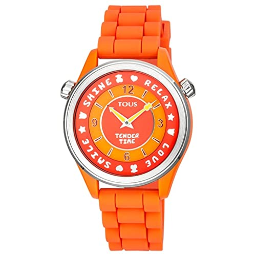 Tous Reloj Tender Time de Acero con Correa de Silicona Naranja Diámetro: 38 mm Ref. 100350585