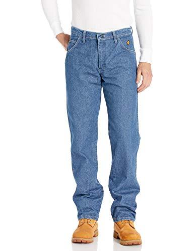 Wrangler Men's FR Flame Resistant Cool Vantage Regular Fit Jean, True Blue, 40x34