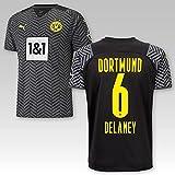 PUMA BVB Auswärtstrikot Erwachsene Saison 2021/22, Größe:XL, Spielername:6 Delaney