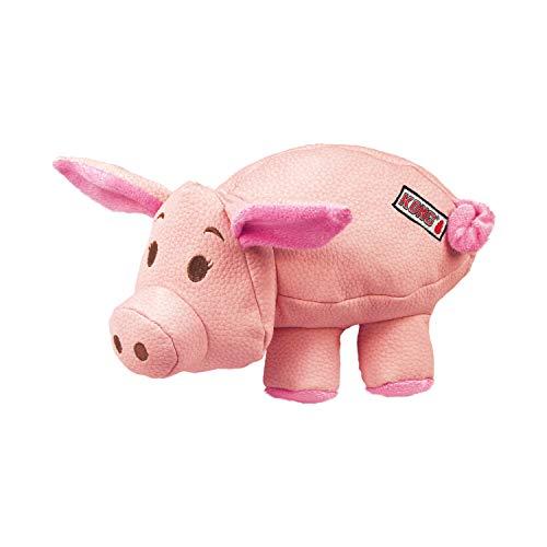 KONG – Phatz Pig – Robustes, Quietschendes Plüschtier – Für Kleine Hunde