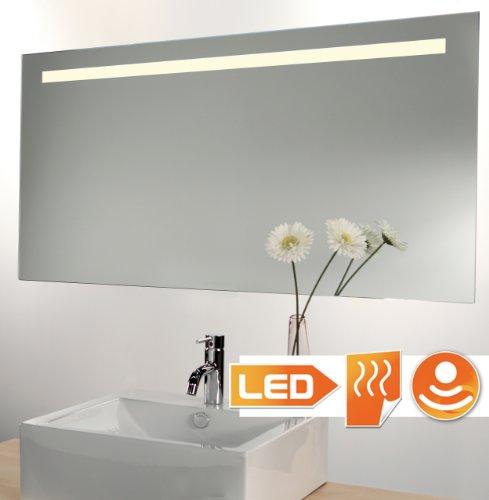 Badspiegel LED beleuchtet mit Sensor und Heizung 140x60 cm
