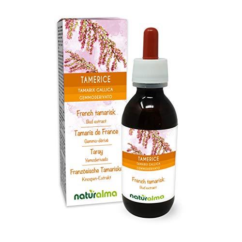 Tamerice (Tamarix gallica) Gemmoderivato analcoolico da giovani getti freschi NATURALMA | Estratto liquido gocce 120 ml | Integratore alimentare | Vegano