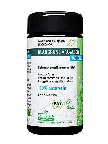 AFA Alge Bio, Wilco Green Foods, 150 Tabletten/Presslinge 100% Naturrein. Für körperliche Fitness, geistige Vitalität und ein gesteigertes Wohlbefinden, Vitamin B12.