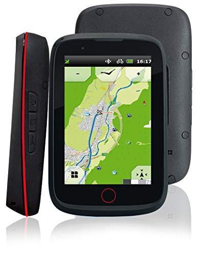 IBEX Tiger EVO Falk Fahrrad,Bike,Wander,Outdoor GPS Navigationsgerät,3,5 Zoll kapazitives Display,45 europäische Länder,Rundkursfunktion,elektronischer Kompass,Geocaching,Fahrradhalterung