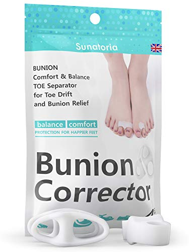 Orthopedic Bunion Corrector and Bunion Relief by Sunatoria - Hammer Toe Straightener Corrector Gel Pads for Left & Right Feet - Bunion Separators Pads - Hallux Valgus Foot Pain Relief Toe Protectors