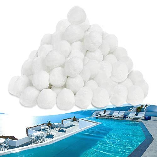 UISEBRT Filterbälle Pool 1400g - Filter Balls Sandfilter ersetzen 50 kg Filtersand