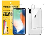 First MART Screen Protector iPhone Xs - iPhone X Front and Back Guard Hammer Proof Impossible Fiber Film Full Flat Screen Tempered Glass Scratch Resistant Precisely Engineered - Upgraded Version