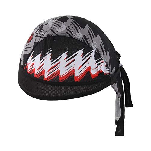 TZTED Pañuelo de Cabeza del Pirata de Deporte Turbante para Bicicleta Ciclo Deportes al Aire Libre