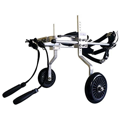 HXSM Silla De Ruedas para Rehabilitación De Patas Traseras De Perros Discapacitados Carrito para Mascota Ciclomotor Scooter para Gatos Adultos Perros Ligero/Portátil/Fácil De Montar XXL (35-60 KG)