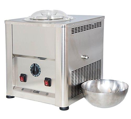 Gelatiera Eismaschine CUBE 1,5, selbstkühlend, aus Edelstahl AISI 304 - 316, perfekt für Gastronomie und Catering, komplett in Italien hergestellt