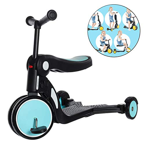 5 in 1 Kinderen Scooter Skateboard 3 Wheel Infant Shining Scooter-Car Kinderoppas Walker Kids Flashing push scooter
