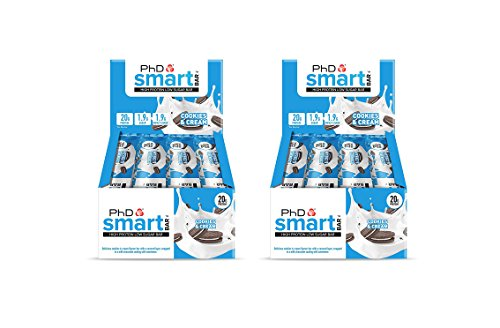 12 Pack x PhD Smart Bar High Protein Low Carb Bar – Pack of 2) 24 Bars x 64 g