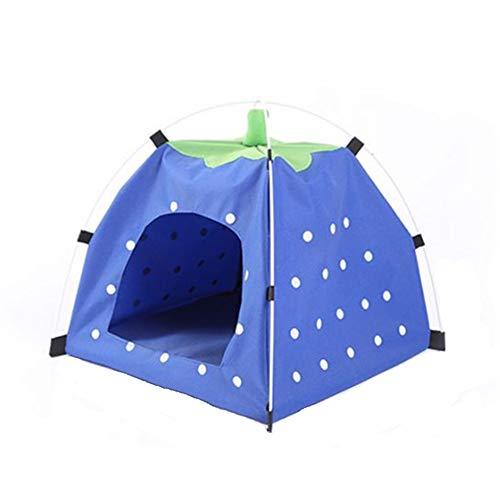 xihan123 Tipi para Perros Acogedor Tipi para Gatos Durable Casita para Perros Tela para Nido Propio De La Mascota Fresco En Verano Familia Viaje Montañismo Blue