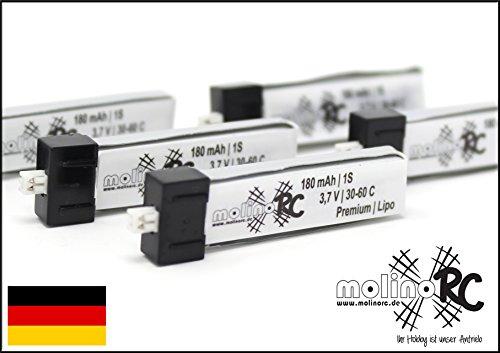 molinoRC 5X BRD * !! 180mah 1s !! 30C-60C | Neuer Akku >2020< | 13% mehr als Turnigy Nano-TECH 1S 3,7V 160mAh 20% mehr als E-Flite 1S 3,7V 150mah Li-Po Akku Lipo EFLB 1501S25 | 📦 | 🇩🇪 | ✅ | 😊 |🥇