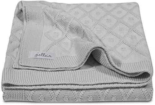 Jollein Couverture Diamond Knit Grey 100 x 150 cm 1 Unité