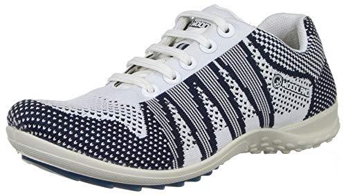 Woodland Men's White/Navy Leather Sneakers-8 UK (42 EU) (9 US) (GC 2897118)