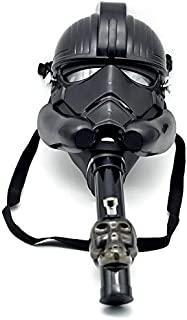 Gas Mask Bong Hookah Smoking Water Tobacco Hookah for Party Star Wars Costume (Black)