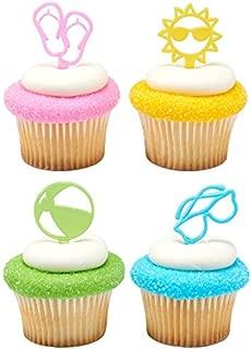 Summer Fun Cupcake Picks - 24 pc