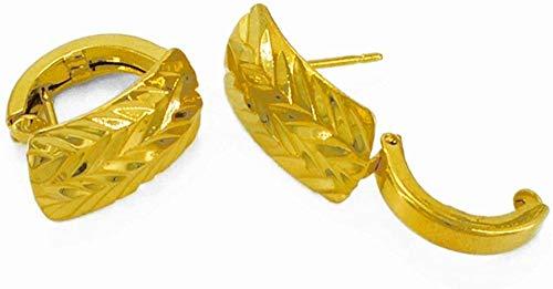 Pendientes S para mujer Oro dorado Árabe Árabe Pequeños pendientes etíopes Accesorios de moda para mujer Producto # 037906