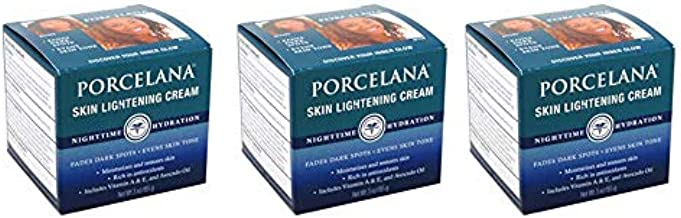 Porcelana Skin Lightening Night Cream 3 Ounce (88ml) (3 Pack)