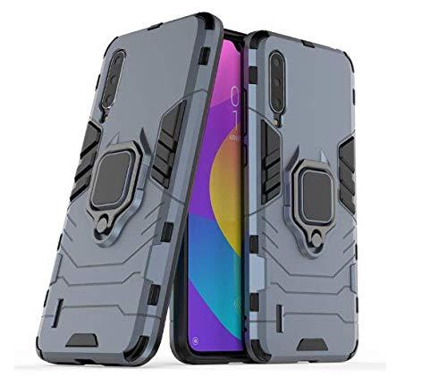 Capa Capinha Anti Impacto Armor Ring+ Película 9d Xiaomi Mi A3 (Capa Anti Impacto Armadura RING azul+ Película de Vidro Full glue 9D com bordas pretas)