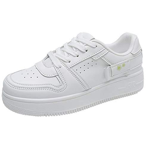 ZOSYNS Zapatos de tela de lona para mujer, zapatos de lona, antideslizantes, zapatos de exterior, zapatos de tiempo libre, 35-40, color Blanco, talla 35 EU