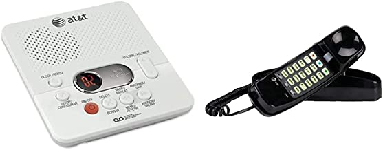 $26 » AT&T (1740WH) Digital AnsweSystem with Time and Day Stamp, White & 210 Basic Trimline Corded Phone, No AC Power Required, ...