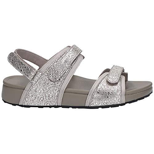 JOYA Damen Sandaletten Damen Sandale Amalfi Silver Silber 45074