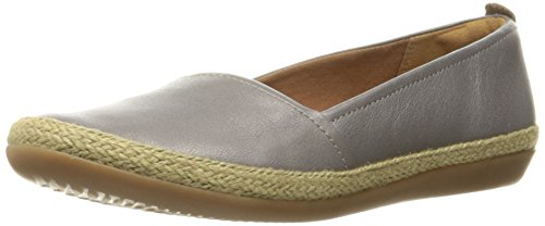 Clarks Women's Danelly Alanza Flat, Silver Leather, 11 M US