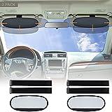 Big Ant Car Visor Shade,2 Pack Anti-Glare Sun Visor Extender Sunshade Anti-DazzleCar Sun Visor Block Sun Glare Harmful Heat UV Rays,Perfect Sun Visor Shield for Cars, Vans and Trucks