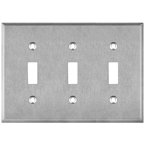Diy Materials Enerlites Toggle Light Switch Wall Plate 1 Gang 430 Stainless Steel 25 Pack Home Furniture Diy Omnitel Com Na