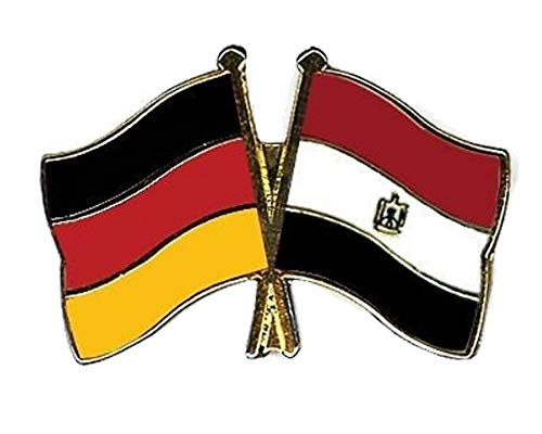 Deutschland & Ägypten Freundschaftsband vergoldet Emaille Anstecknadel Flagge